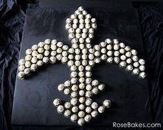 New Orleans Saints Fleur de Lis Cupcakes Display