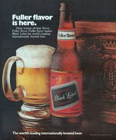 Carling Black Label Lager Beer 1971 Ad Picture