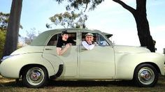 REV 'N' ROLL: Don Loffler, with his  1954 FJ special, and model Gemma VenDetta on board, is celebrating 60 year Anniversary...      http://mobile.news.com.au/national/south-australia/fj-holden-to-be-honoured-at-national-motor-museum-in-birdwood-for-60th-anniversary/story-fnii5yv4-1226751619297