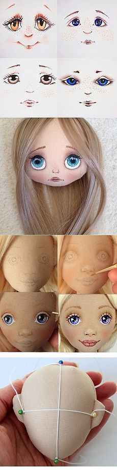 Doll eyes for self tutorial - Doll Eyes, Doll Face, Doll Crafts, Diy Doll, Sewing Dolls, Doll Tutorial, Waldorf Dolls, Soft Dolls, Fabric Dolls