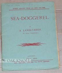 SEA-DOGGEREL BY A LANDLUBBER. W. Mort Thompson.