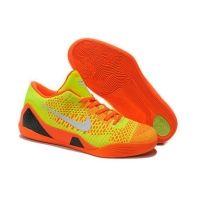 the latest c59b5 4c001 639045 605 Nike Kobe IX 9 Elite Low Orange Yellow White Mens Basketball  Shoes