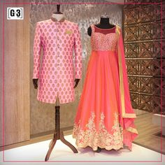 Pink is no more just a Feminine shade to go with! Enhance your Truly Bridal Wear with the Pink Couple Story Designer Wear. For Instant Price and Queries Whatsapp - +91-9913433322