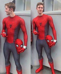 Spiderman Suits, Spiderman Cosplay, Superhero Cosplay, Male Cosplay, Best Cosplay, Super Hero Costumes, Cool Costumes, Mens Leather Pants, Lycra Men