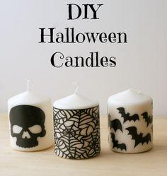 DIY Halloween Candle
