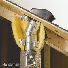 Vent your bath and kitchen exhaust fans through the roof through a special roof hood. Venting through a roof vent or exhausting them in the attic could cause moisture problems and rot.