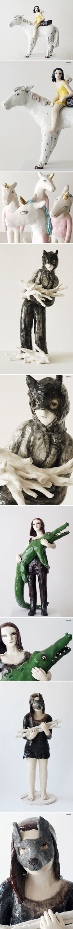 ceramics by french artist clementine de chabaneix <3
