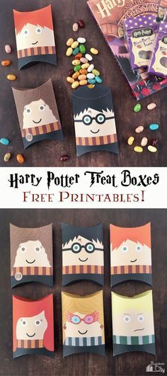 Free Printable Harry Potter Treat Boxes! Quick and easy to put together.