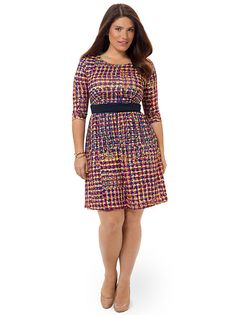 Colorfully Tiled Chelsea Dress