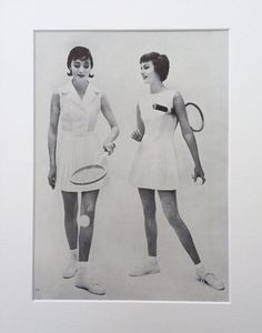 1950s Tennis Vogue Clipping Mounted Ready to Frame : British Vogue May 1958 by onceavogue on Etsy