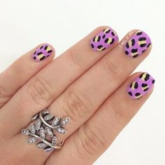 Nails are cute but I love the ring.