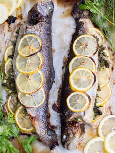 Lemon-herb Baked Trout Recipe, just in minutes you have have a fancy dinner at home. It is very healthy too. Lemon-herb Baked Trout Recipe, just in minutes you have have a fancy dinner at home. It is very healthy too. Rainbow Trout Recipe Baked, Rainbow Trout Recipes, Baked Trout, Baked Fish, Baked Salmon, Whole Trout Recipes, Lake Trout Recipes, Salmon Recipes, Fish Recipes