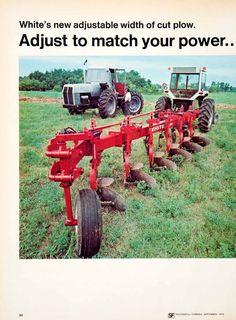 1975 Ad White Motor Farm Machine Tractor Attachment Harrow Agriculture 598 SF2