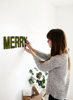 diy merry moss letters