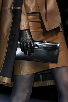 Hermès at Paris Fashion Week Fall 2010  #Clutches #Trend Leather