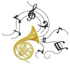 Music Notes 2, 10 - 2 Sizes! | What's New | Machine Embroidery Designs | SWAKembroidery.com Ace Points Embroidery