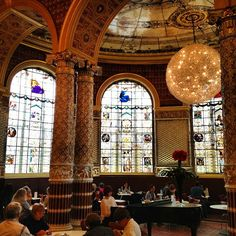 Victoria and Albert Museum Cafe - yep where you can just hang out and drink tea - awesome.