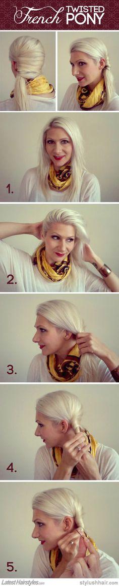 Spice up your boring ponytail! Elegant French Twist