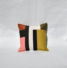 Your place to buy and sell all things handmade Cushion Cover Pattern, Cushion Cover Designs, Cushion Covers, Geometric Cushions, Geometric Pillow, Decorative Pillow Cases, Color Stories, Toss Pillows, Yellow