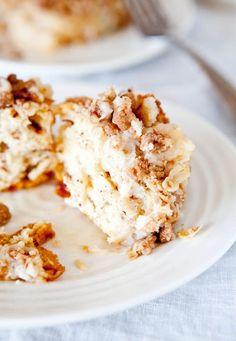 Cinnamon Bun Pie..starts with packaged cinnamon rolls...Simple & Delicious!