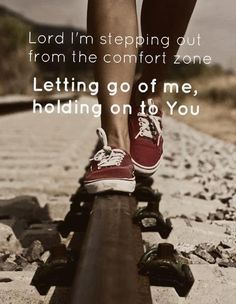 letting go...  of me.
