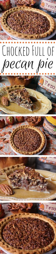 "pecan pie heavy on the pecans and light on the ""goo,"" then this pec..."