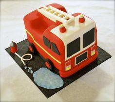 FIRE TRUCK CAKE