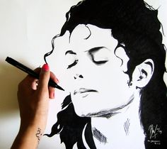 A beautiful drawing of Michael Jackson - niimsz.deviantart.com