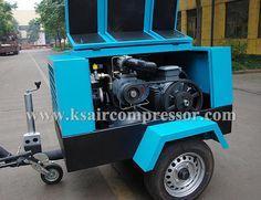 Portable screw air compressor, electrical screw air compressor