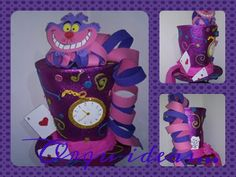 Sombrero de Sombrerero Loco con gato Cheshire..