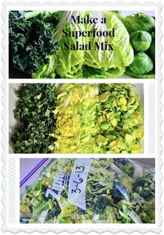 Healthy eating for the holidays. How to Make a Superfood Salad Mix (and save money). ReluctantEntertainer.com