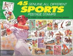 45 Stamps From Vaiours Countries Of Assorted Sports Scenes - 45 Genuine Postage Stamps Assortment - Sports by DOMAGRON Coins. $30.38. 45 Genuine Postage Stamps Assortment - SportsThis kit contains three album pages which fit into any three-ring binder, mounting hinges, and 45 genuine postage stamps of various denominations and countries of origin.Disclosure: Suggested age is 0 - 18 years Product may contain Small parts Not suitable for children under 3 yrs.