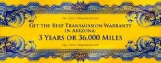 ProTechTransmissionsPhoenix :: We are striving to be the best transmission shop in Phoenix. Our warranty is the best in Arizona: 3 years or 36,000 miles. That's how certain we are of our work. http://www.pro-techtransmission.com/