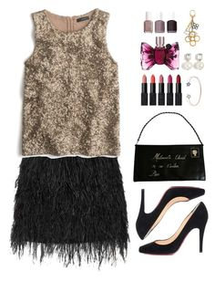 """""""Untitled #384"""" by pinkandgoldsparkles ❤ liked on Polyvore featuring Christian Louboutin, Essie, Mason by Michelle Mason, J.Crew, Karl Lagerfeld, NARS Cosmetics, Viktor & Rolf and Louis Vuitton"""