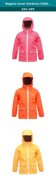 Regatta Great Outdoors Childrens/Kids Foxworth Waterproof Rain Jacket (9/10 Years) (Jem). Waterproof Hydrafort polyester fabric. Taped seams. Mesh lined. Grown on hood with elasticated sides and stripe jersey lining. 2 lower pockets. 100% Polyester. Regatta Kids Sizing (chest approx): 2 Years (21-21.5in), 3-4 Years (22-22.5in), 5-6 Years (23.5-24in), 7-8 Years (25-26.5in), 9-10 Years (27-28.5in), 11-12 Years (29.5-31in), 32 (31-32.5in), 34 (32.5-33.5in).