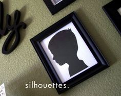 DIY silhouette.  So easy.