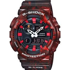 Casio Men's GAX100MB-4A 'G-Shock' Analog-Digital Red Watch