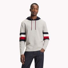 Shop men's hoodies and sweatshirts from Tommy Hilfiger. Sweater Hoodie, Men Sweater, Pullover, Mens Sweatshirts, Hoodies, Tommy Hilfiger, Casual Outfits, Man Shop, Sweaters
