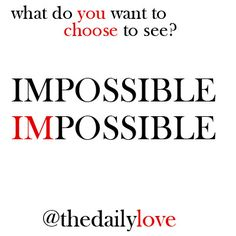 Visual Inspiration: Impossible or I'm Possible?