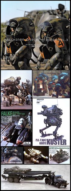The Last Outpost: Maschinen Krieger Graphix Vol. Spaceship Concept, Concept Cars, Cool Books, Robot Art, Cthulhu, Dieselpunk, Science Fiction, Fantasy Art, Action Figures