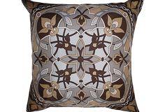 Pillow w/ Vintage Silk Scarf on OneKingsLane.com