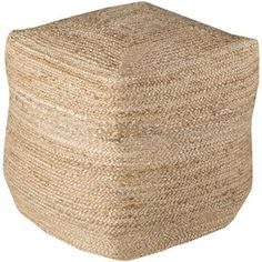 Teddy Woven Cube Pouf, Jute - Ottomans, Benches & Poufs - Kids & Baby Furniture - Kids & Baby One Kings Lane Farmhouse Style Kitchen, Modern Farmhouse Style, Farmhouse Decor, Pouf Ottoman, Modern Outdoor Living, I Love House, Christmas Living Rooms, Ikea Furniture, Baby Furniture