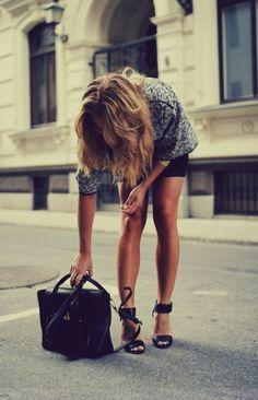 black accessories. shoes.