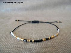 Bracelet d'amitié réglable en perles Miyuki delica