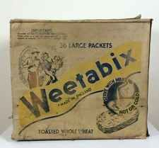 Vtg Antique 40s Advertising Weetabix Box Picture Print Cafe Kitchen Box Crate