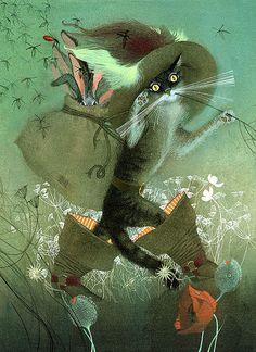 Russian designer and illustrator Nadezhda Illarionova's series of Dark Fairy Tale Illustrations.