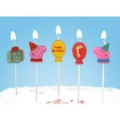 Maxwell just adores Peppa Pig - we might just do a Peppa (and George!) party!!! Bebe'!!! Cute Peppa Pig Candles!!!
