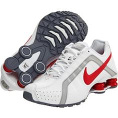 Nike - Shox Junior (White/White/Neutral Grey/Scarlet Fire) - Footwear, $71.99 | www.findbuy.co