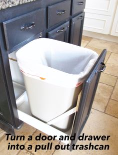 DIY pull out trash can