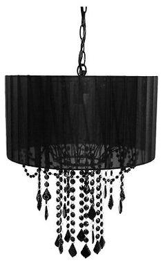 Black Chandelier Lamp One Bulb Shaded Ceiling Pendant Light Modern FAST SHIP NEW